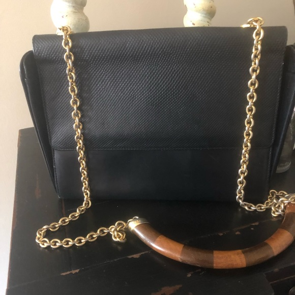 Fendi Handbags - Fendi vintage Black leather shoulder bag